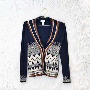 Carmen Marc Valvo printed cardigan sweater